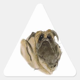 pug dog, tony fernandes triangle sticker