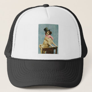 Pug Dog Vintage Stereoview Trucker Hat