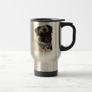 Pug Dog Vintage Travel Mug