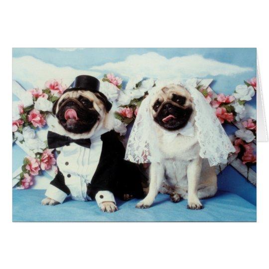 pug dog wedding card zazzlecom