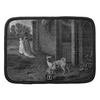 Pug Dogs Black and White Art Organizer