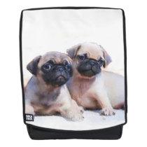 Pug dogs boldface backpack