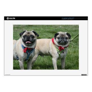Pug dogs laptop skin