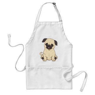 Pug Drawing By Pablo Fernandez Limited Edition Adult Apron