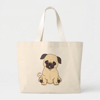 Pug Drawing By Pablo Fernandez Limited Edition Tote Bags
