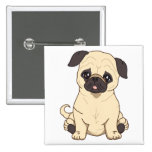 Pug Drawing By Pablo Fernandez Limited Edition Buttons