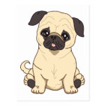 Pug Drawing By Pablo Fernandez Limited Edition Postcard