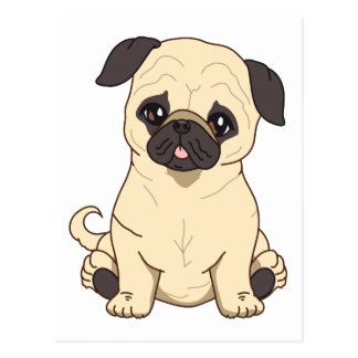 Pug Drawing By Pablo Fernandez Limited Edition Postcard