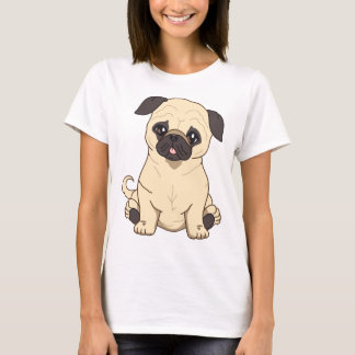Pug Drawing By Pablo Fernandez Limited Edition T-Shirt