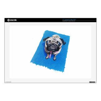 Pug Drawing Laptop Skin