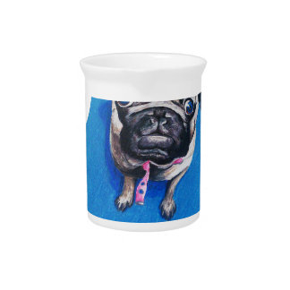 Pug Drawing Pitcher