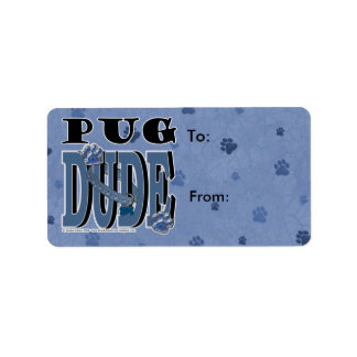 Pug DUDE Label