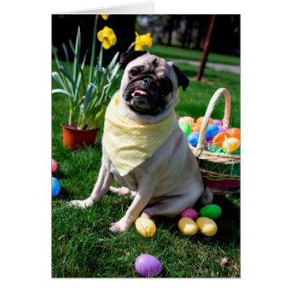 Pug Easter Card