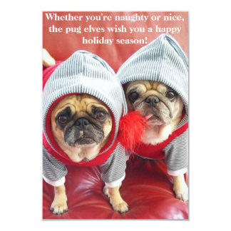 Pug Elves Card