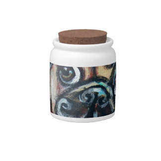 Pug eyes butterfly candy dishes