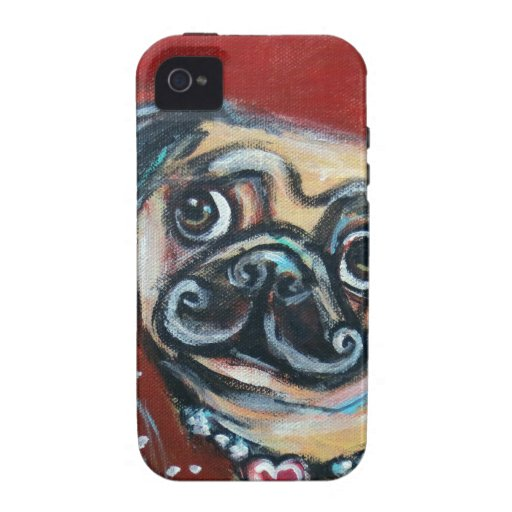 Pug eyes butterfly case for the iPhone 4