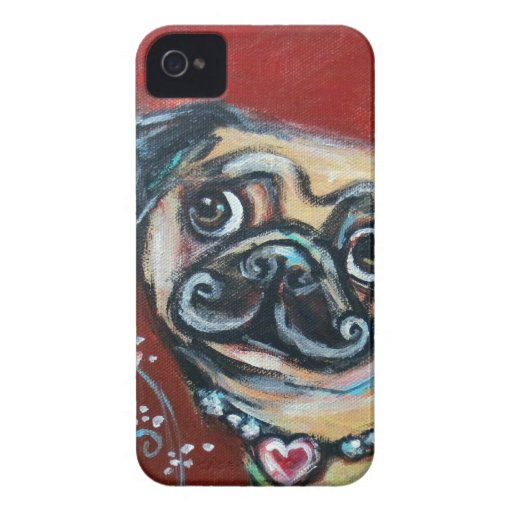 Pug eyes butterfly Case-Mate iPhone 4 cases