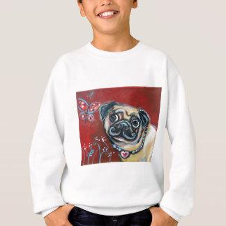 Pug eyes butterfly sweatshirt