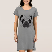 Pug Face Silhouette Dress