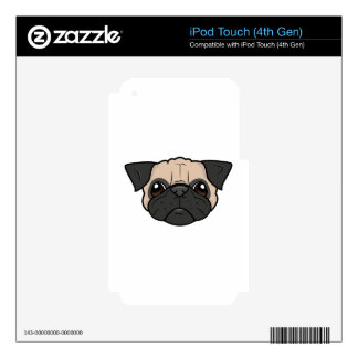 Pug Face Skins For iPod Touch 4G