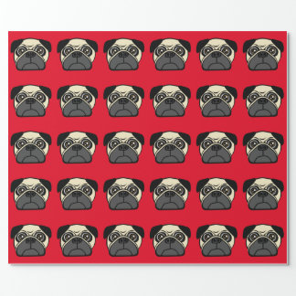 Pug Face Wrapping Paper