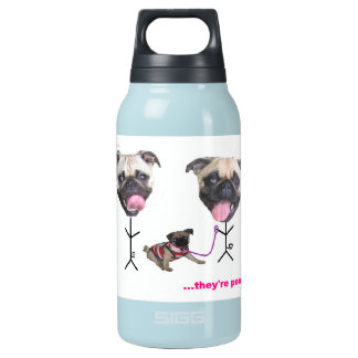 Pug Family Insulated Water Bottle