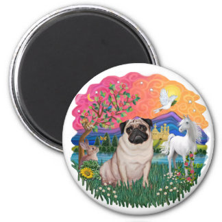 Pug (fawn 21) 2 inch round magnet