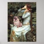 Pug (fawn 2) - Ophelia Seated Print