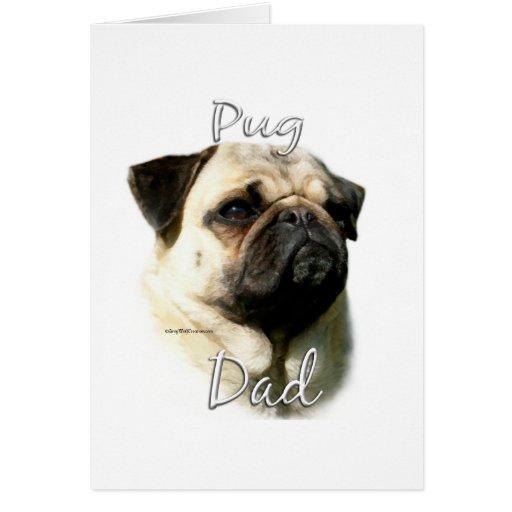 Pug (fawn) Dad 2 Card