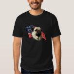 Pug (fawn) Flag Tee Shirt