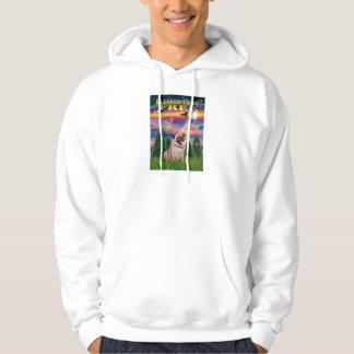 Pug (fawn) hoodie