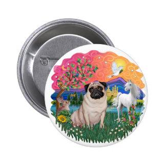 Pug (fawn) pinback button