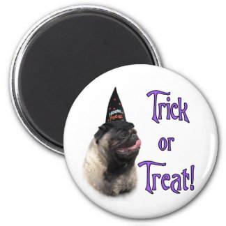 Pug (fawn) Trick 2 Inch Round Magnet