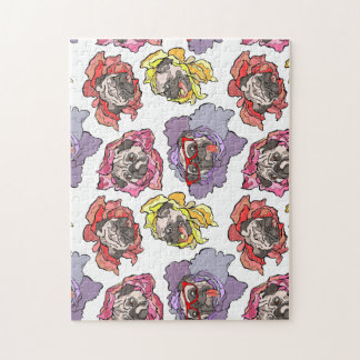 Pug Flowers Jigsaw Puzzle