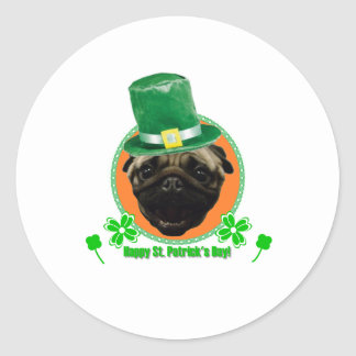 Pug for Paddy Classic Round Sticker