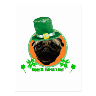 Pug for Paddy Postcard