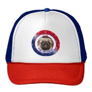 PUG FOR PRESIDENT TRUCKER HAT