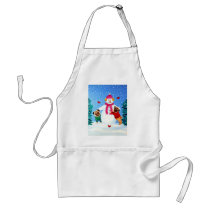 Pug Frosty's Helpers Apron