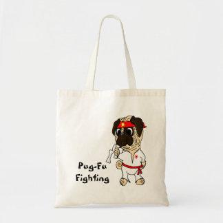Pug-Fu Fighting Karate Pug Tote Bag