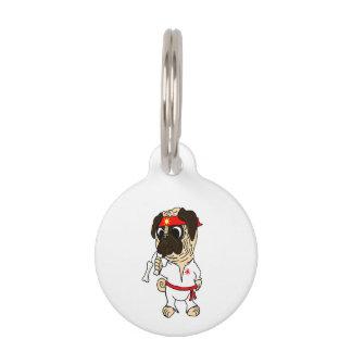 Pug-Fu Pug Dog Tag