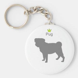 Pug g5 basic round button keychain