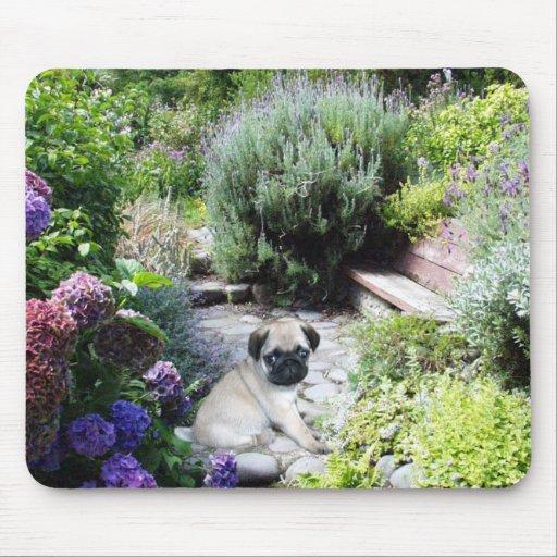 Pug Garden Mousepad