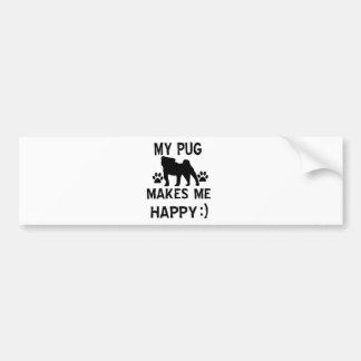 pug  gift items bumper sticker