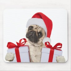 Pug gifts - dog claus - funny pugs - funny dogs mouse pad
