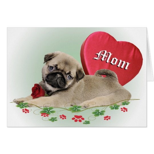PUG Gifts For Mom Card