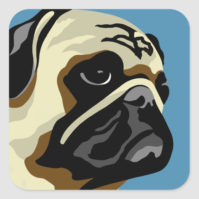 Pug Gifts Square Sticker