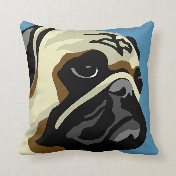 Pug Gifts Throw Pillow