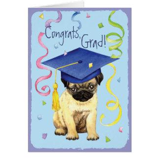 Pug Graduate Greeting Cards