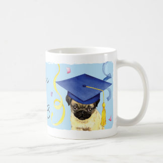 Pug Graduate Classic White Coffee Mug