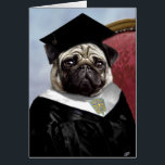 """Pug graduation card<br><div class=""""desc"""">The World is yours.  Now go get it!  Inspire that new graduate to reach for everything possible,  and let them know how proud you are of everything they&#39;ve achieved so far!</div>"""